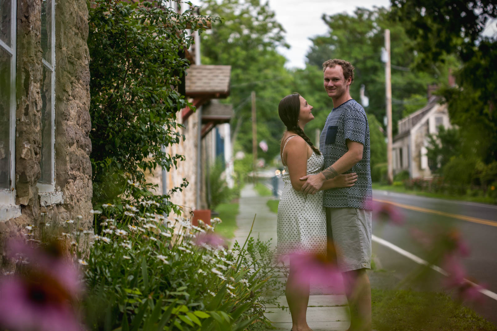 Summer engagement session in Hudson Valle, New York