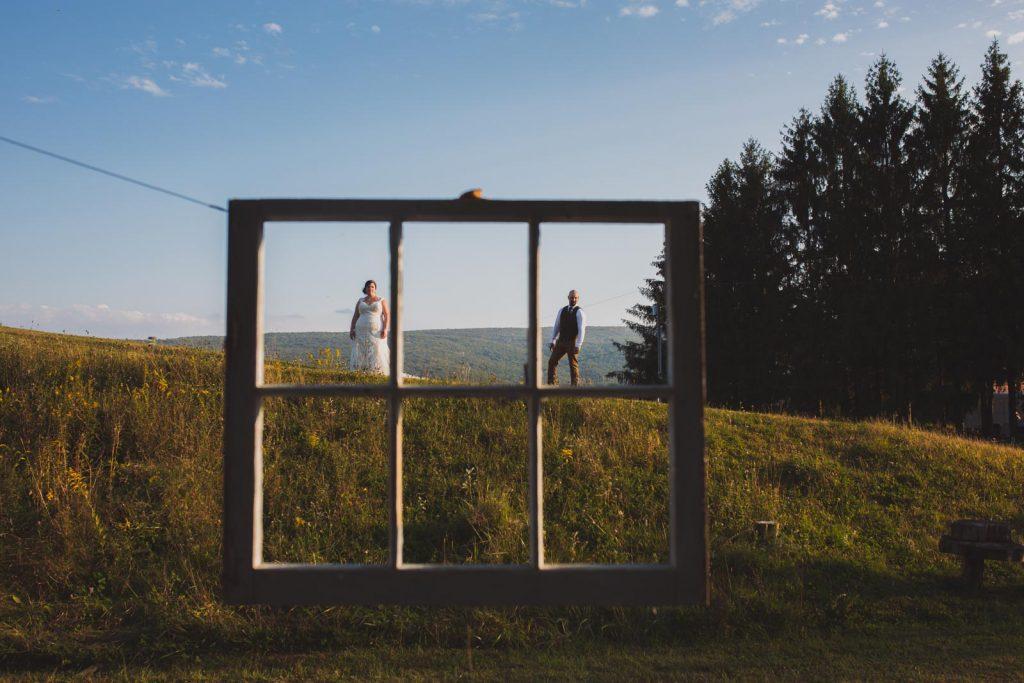 Couples photos for a Summer farm wedding in the Hudson Valley