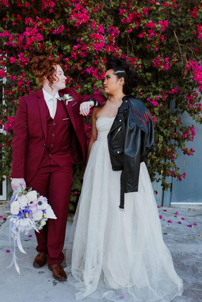 Two Brides portrait at The Doyle , Las Vegas
