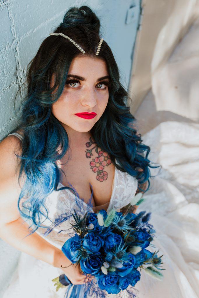 Punk Bridal Portrait - Bride with tattoos