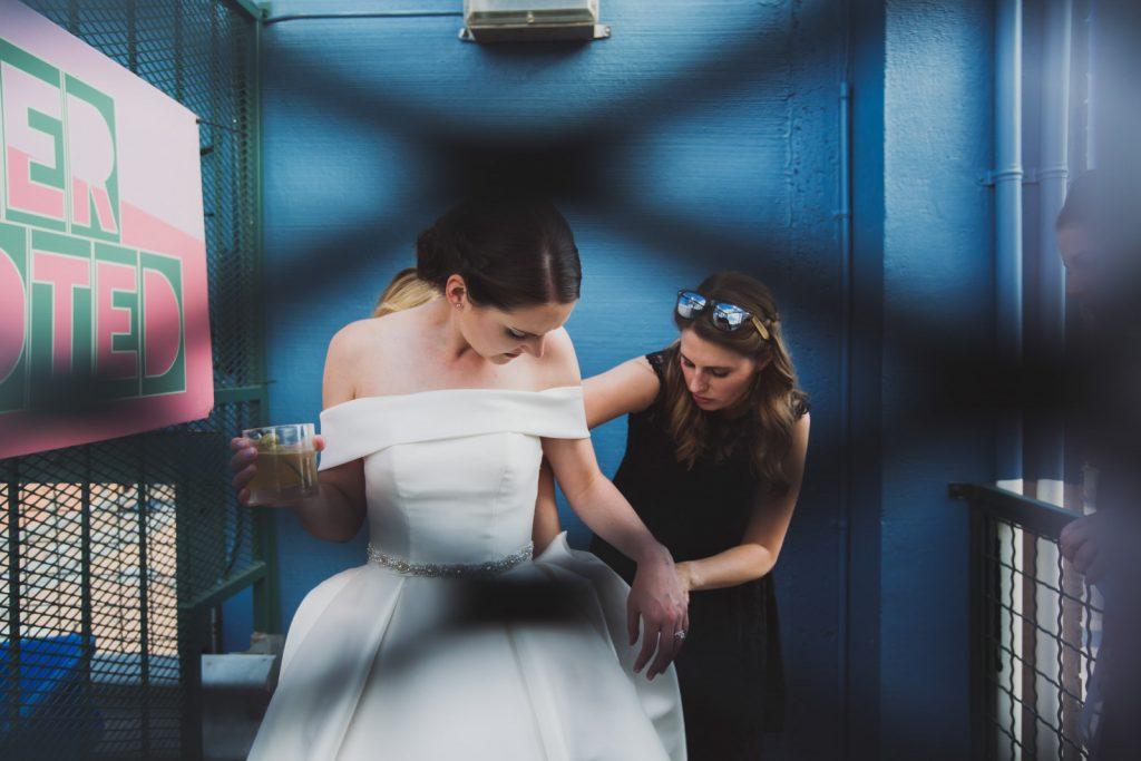 Bridal Details after the ceremony, summer wedding in Denver Colorado