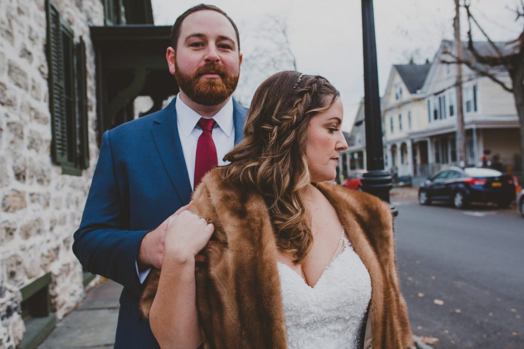Wedding photos in the Stockade District, Uptown Kingston