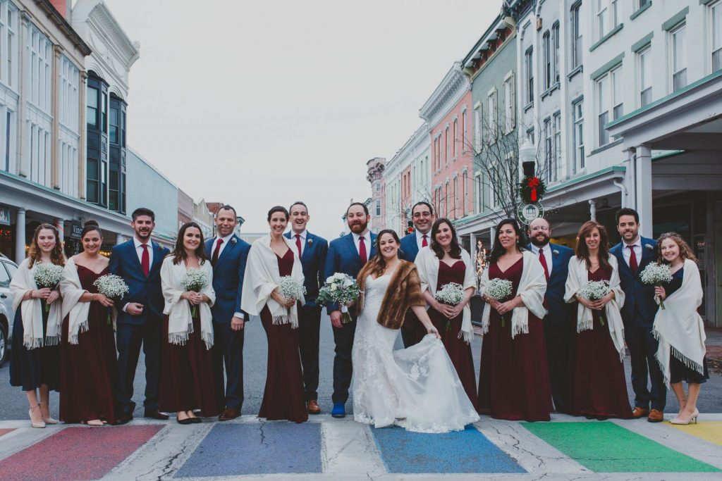 Wedding Party in Uptown Kingston - Hudson Valley, New York