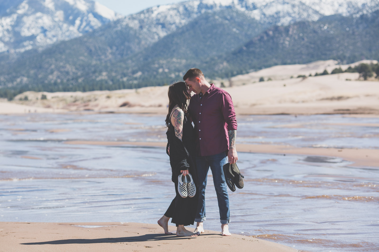 Spring engagement photography - Great Sand Dunes National Park, Colorado