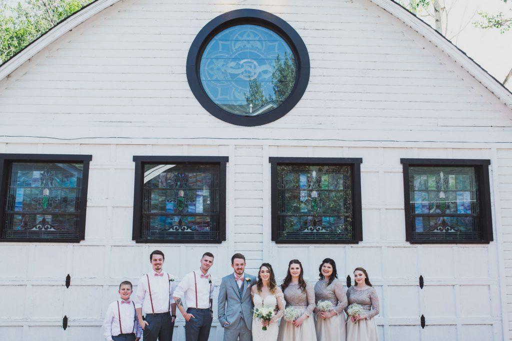 Summer Wedding Party photo at Lions Gate , Denver CO