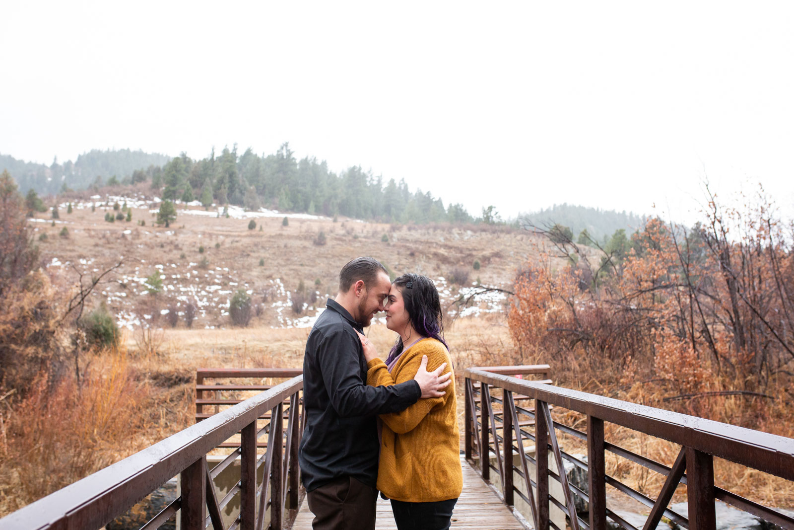 Fall Engagement photography - Lair O the Bear Park, Colorado
