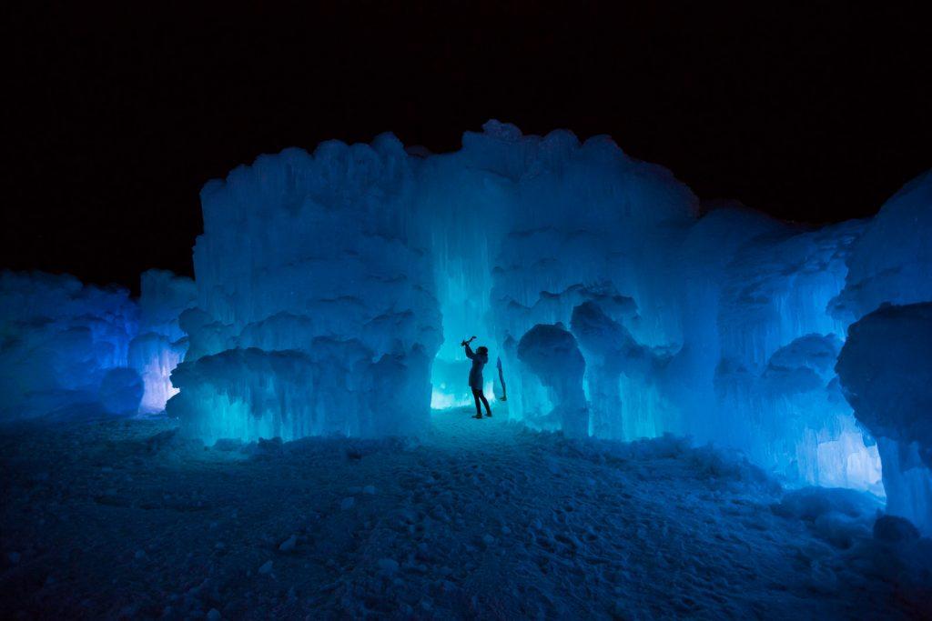 Dillon Colorado Ice Castles at Night