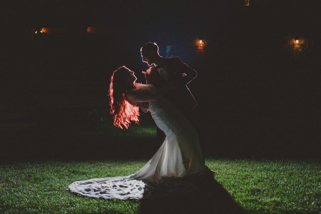 Night time wedding photos in Estes Park, Colorado