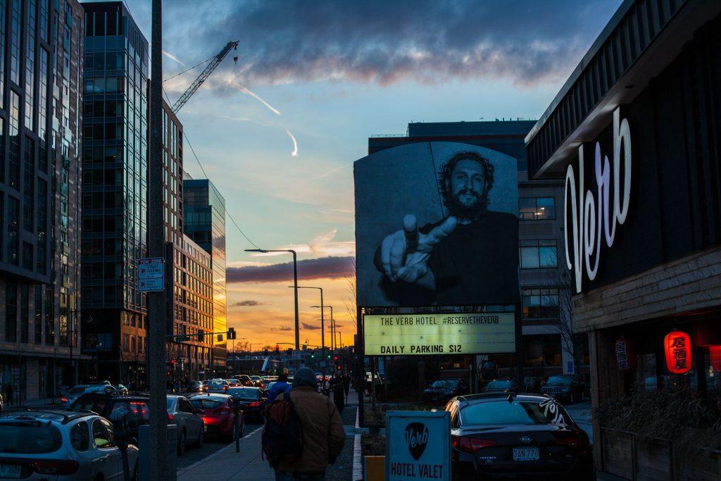 The Verb Hotel Billboard in Boston